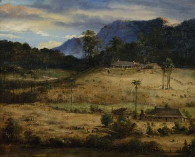 (Illawarra Landscape, possibly Westmacott's Woodland's Cottage, Thirroul)