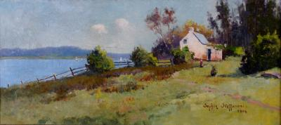 Landscape with White Cottage