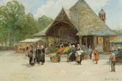 The market at Le Fouet, Brittany