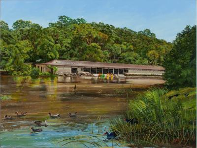 The old boathouse, Audley Weir