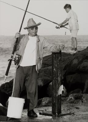 Fisherman at Port Kembla Jetty
