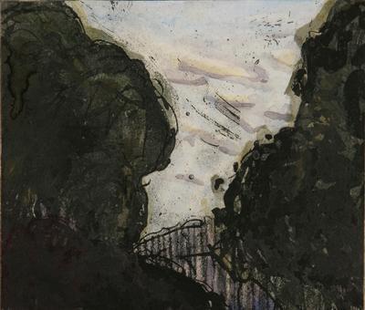 Detail park edge (triptych)